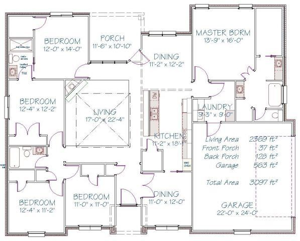 Plan 210PS – 2369 sqft