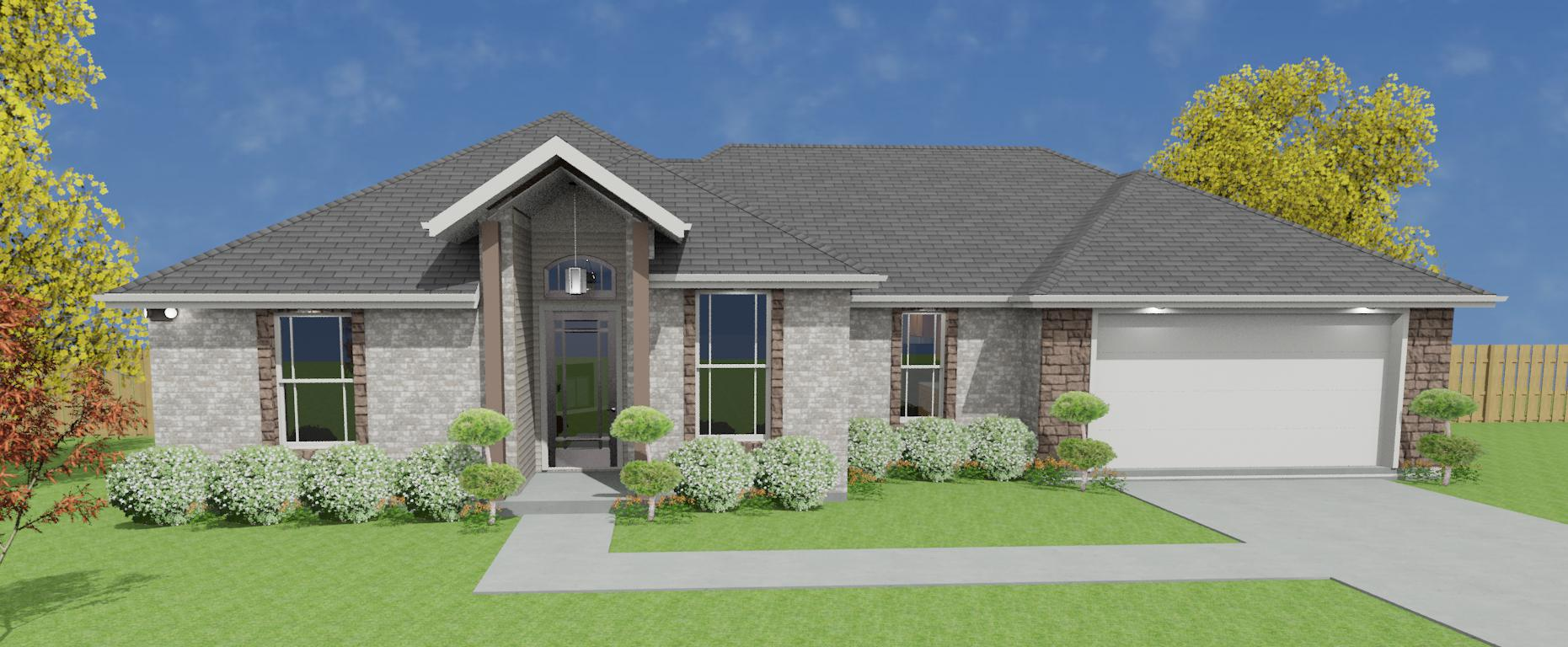 1787ft² with Ashland Brick (Gray)