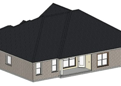 Home Builder Tyler Texas 2210 House Top Back