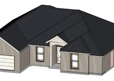 Home Builder Tyler Texas 2210 House Top Front