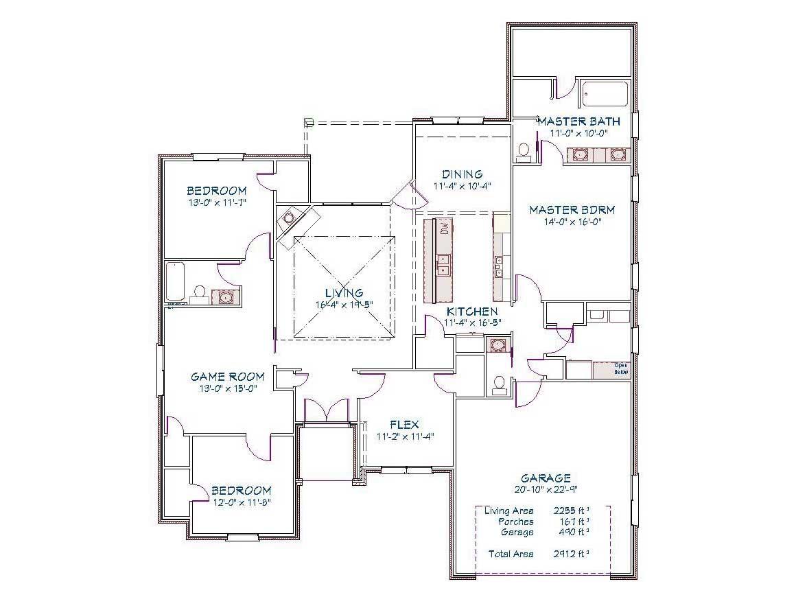 Plan 2519o 2255 Sqft Pyramid Homes Home Builders