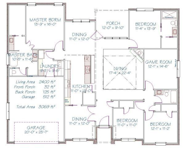 Plan 19494S – 2390 sqft