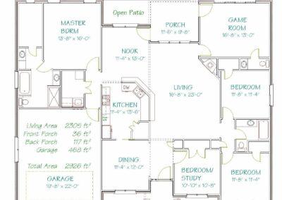 Plan 5810b 2305 Sqft Pyramid Homes Home Builders