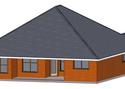 Home Builder Tyler Texas 2502 House Top Back