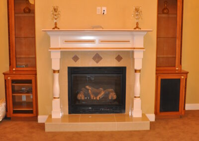 Home Builder Tyler Texas Fireplace Family Gallery 1056